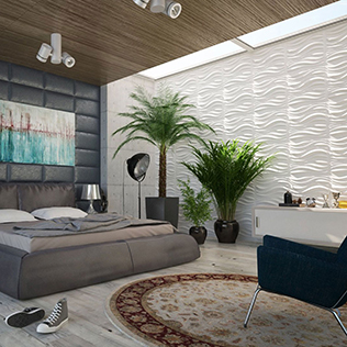WallArt projects  - 3dwall interiordesign wallart waves