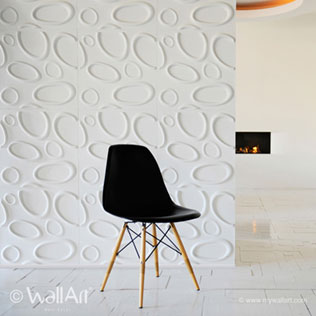 WallArt 3d wall panels Splashes design in showroom