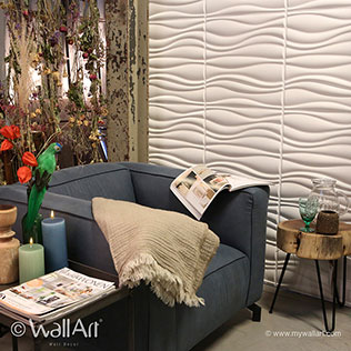 Waves - 3D Wall Panels | For more decorative & modern 3D wall art visit us at mywallart.com