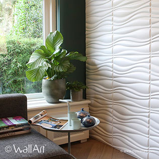 Waves  - 3D Wall Tiles | For more decorative & modern 3D wall art visit us at mywallart.com