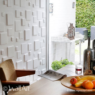 WallArt 3d walldecor Squares design in living
