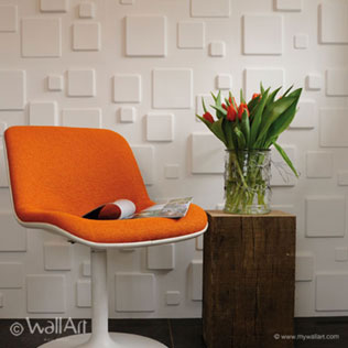 WallArt 3d wall panels Squares design at home