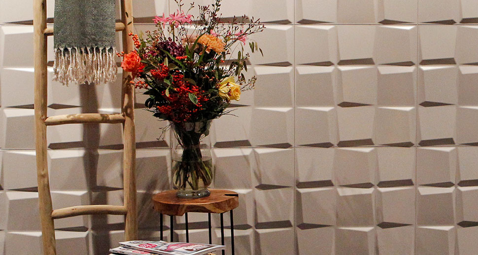 Oberon Wall Panels with Flowers - Order your 3D Wall Tiles at MyWallArt.com