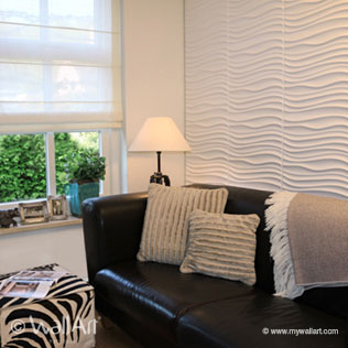 WallArt 3d wall panels Maxwell in livingroom