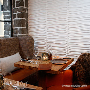 wallart 3d wall decor in restaurant