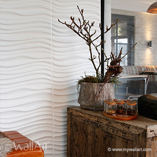 maxwelldesign 3d walls in restaurant