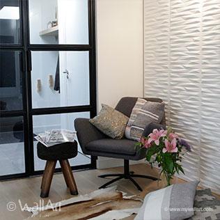 WallArt 3d walldecor Valeria in livingroom. 3D Wall Panels   WallArt The Original Brand