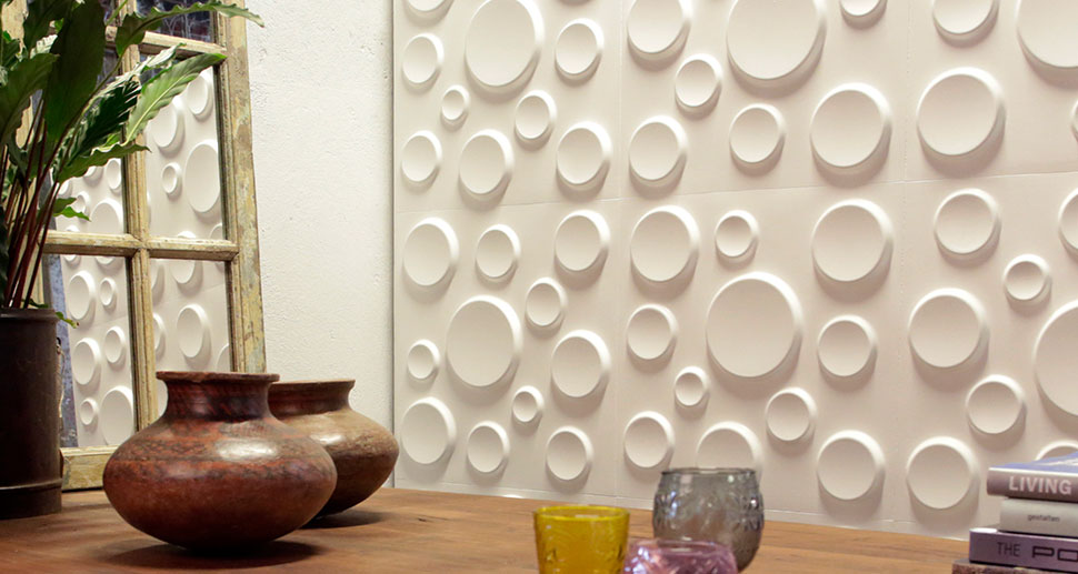 Craters Design - 3D Wall Panels | For more living room wall decor ideas & wall art, visit mywallart.com