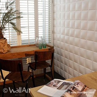 WallArt 3d walls Cubes design in living