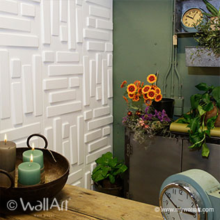Bricks Design - 3D Wall Panels | For more wall decoration ideas and wall panels, visit us at mywallart.com