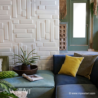 Bricks Design - 3D Wall Decoration | For more wall decoration ideas and wall panels, visit us at mywallart.com