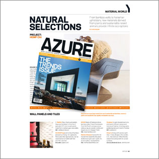 3d walls in Azure Magazine Canada