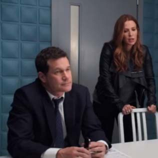 3d wallpanels Cubes in CBS TV serie unforgettable