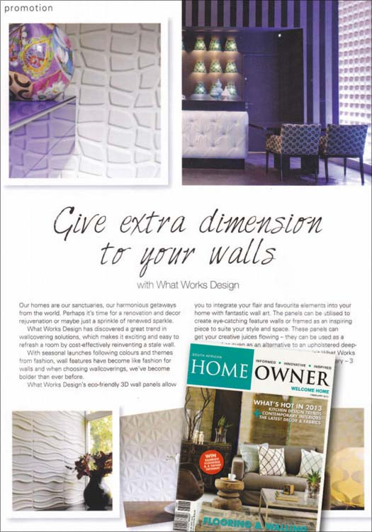 wallart Home Owner South Africa 3d walls