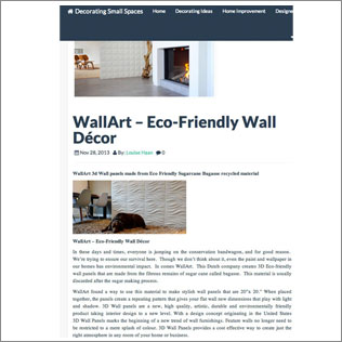 wallart in decoratingsmallspaces