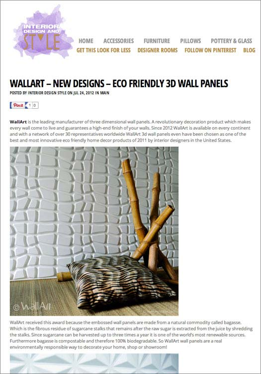 interiordesignstyle published wallart