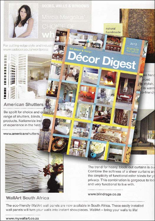 wallart in Decor Digest SA 3d walls