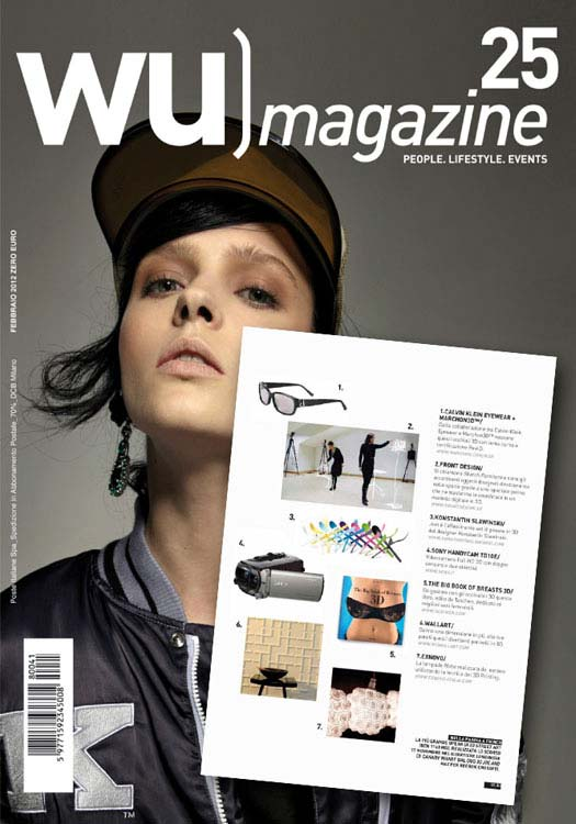 3d wallpanels wallart in WU Magazine Italy