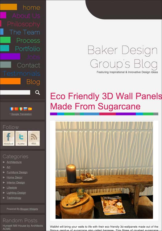 wallart 3d walldecor in Baker Design Group