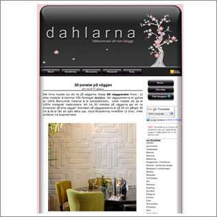 Dahlarna published wallart 3d walls