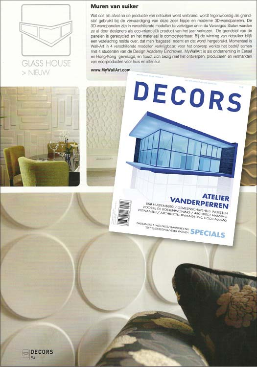 3d walls in Decors magazine The netherlands wallart