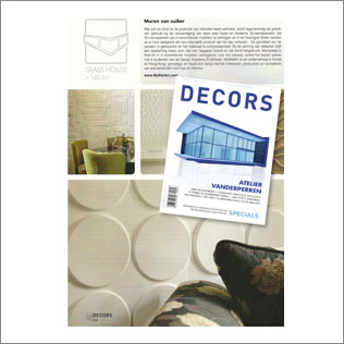 wallart in Decors magazine The netherlands