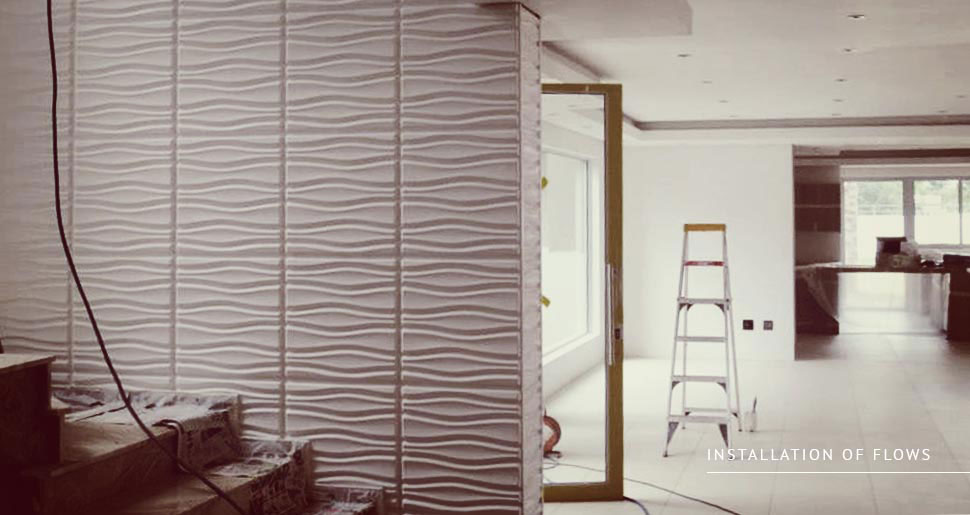 Installation 3d Wall Panels And 3d Design Tiles