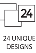 24 unique designs
