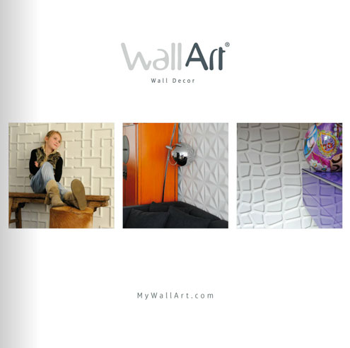 View our online 3D wall panels catalog from WallArt
