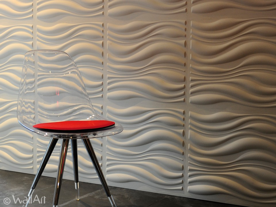 3d wall panels waves design | wallart