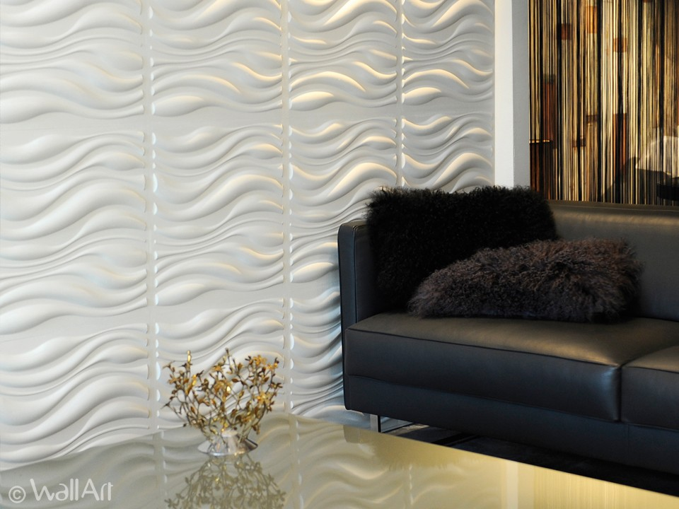 3D Wall Panels Waves design WallArt